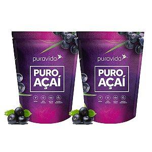 Kit 2x Puro Açaí em Pó Liofilizado, Vegano, 100% Puro