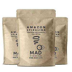 Kit 3x Amazon Spirulina, Proteína Florestal, MAD