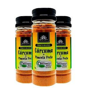 Kit 3x Cúrcuma com Pimenta Preta orgânica 70g