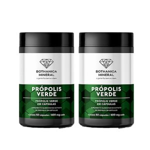 Kit 2x Própolis Verde 60 Capsulas, Bothanica Mineral