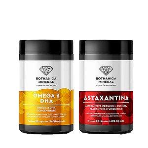 Combo Astaxantina Antioxidante + Ômega 3 DHA1000mg Bothanica