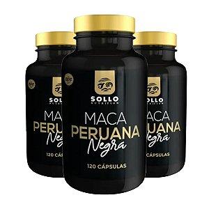 Kit 3x Maca Peruana Negra - 120 Capsulas