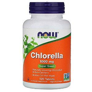 Chlorella, 1.000 mg, 120 Comprimidos, Now Foods, Importado