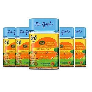 Kit 6x Vitamina C Kids Dr Good gomas sabor Laranja c/ 60