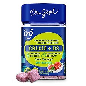 Suplemento Alimentar Cálcio + Vitamina D3 C/ 30 Gomas Morango