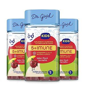 Kit 3x Suplemento Alimentar Dr. Good 5+ Imune Kids  60 Gomas