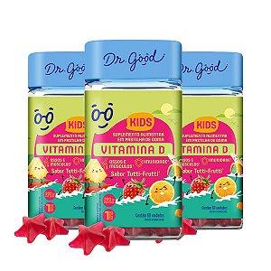 Kit 3x Vitamina D Kids Dr Good Suplemento Tutti Frutti C/60