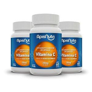 Kit 3x Suplemento Vitamina C 280mg 60 Capsulas