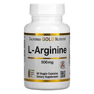 L-Arginina, 500 mg, California Gold Nutrition, 60 Cápsulas