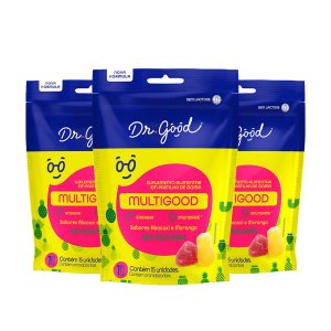 Kit 3x Gominhas Multigood Diet Pacote com 15 unidades