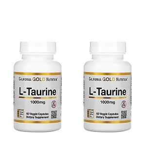 Kit 2x L-Taurina, California Gold Nutrition, 1.000 mg