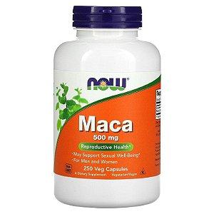 Maca Peruana, Now Foods, 500 mg, 250 Veg Capsules, Importado