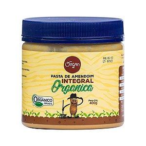 Pasta Amendoim Orgânico Integral Organ 400g