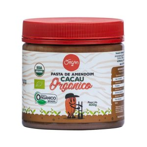 Pasta Amendoim Orgânico Cacau Organ 400g