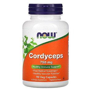 Cordyceps, Now Foods, 750 mg, 90 Cápsulas, Importado