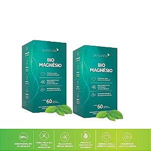 Kit 2x Bio Magnésio 60 Cáps 1200mg Pura Vida