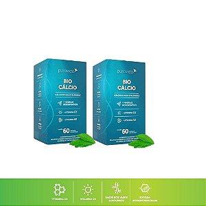 Kit 2x Bio Cálcio + Vitamina D3 + Vitamina K2 Pura Vida