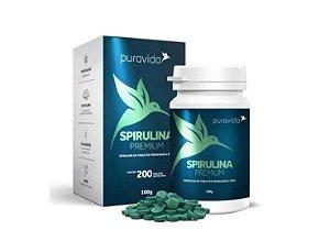 Spirulina Premium 500mg 200 Tabletes - Pura Vida