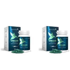 2x Spirulina Premium 500mg 200 Tabletes - Pura Vida