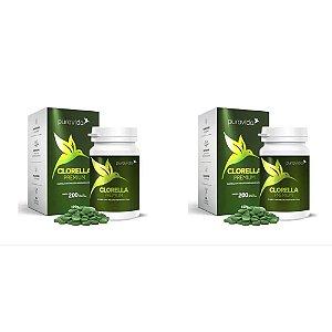 2x Clorella Premium 500mg 200 Tabletes - Pura Vida
