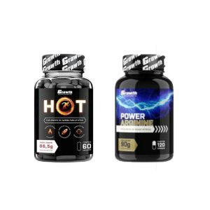 COMBO POWER ARGININA (120CAPS) + HOT TERMOGÊNICO (60 CAPS)