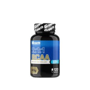 Bcaa 2:1:1 Aminoácidos 120 Cápsulas - Growth Supplements