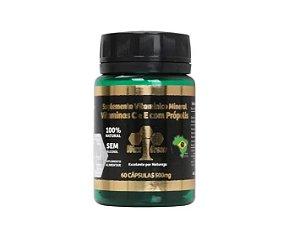 Própolis 85% Extrato Seco-500 Mg-vitamina C E E -60 Cápsulas