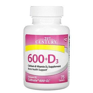 Calcio & Vitamina D3, 75caps Suplemento Importado