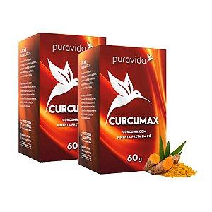Kit 2x Curcumax Curcuma Longa em pó 60g Puravida