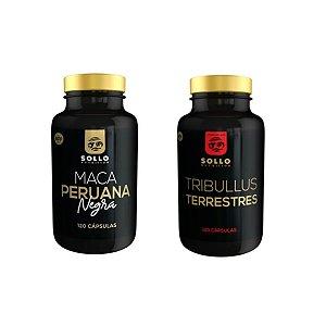 Combo Tribullus 46% sapo + Maca Peruana Negra - 120 Capsulas