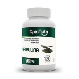 SPIRULINA 500MG 120 CPS APISNUTRI .