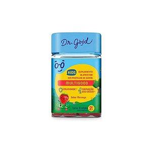 Multigood Kids Suplemento Em Gomas Morango C/30 Dr good