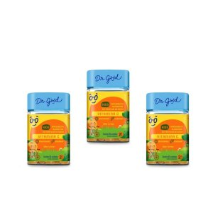 Kit 3x VitaminaC Kids Dr Good Suplemento gomas Laranja c/ 60