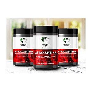Kit 3x ASTAXANTINA -6000x mais Antioxidante que a Vitamina C