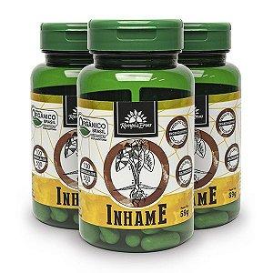 Kit 3x Inhame orgânico 100cps de 500mg, Capsulas Veganos