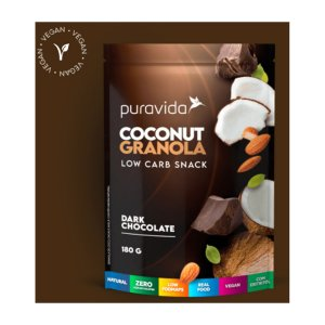 Coconut Granola Dark Chocolate, 180g, Puravida