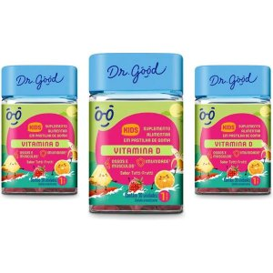 Kit 3x Vitamina D Kids Dr Good Gomas Tutti Frutti C/30