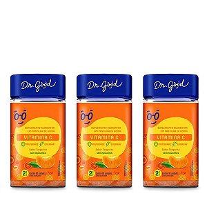 Kit 3x Vitamina C Diet Dr Good gomas sabor Laranja c/ 60
