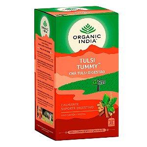 Chá Tulsi Digestão Tummy Organic India 25 Saches