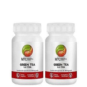 Kit 2x Green Tea-Lu Cha 60 capsulas