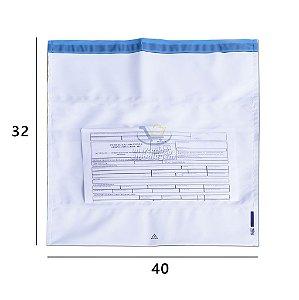 Envelope Plástico de Segurança com Bolsa 32 X 40 cm