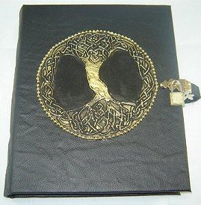 Livro das Sombras com arvore da vida celta cod.249