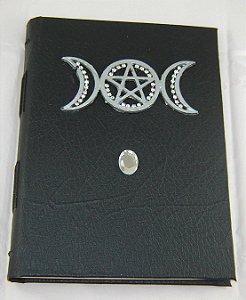 Diario de couro triluna  cod.349