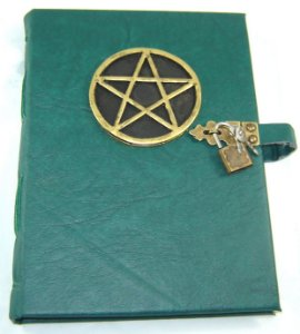 Diario de couro pentagrama  cod.352