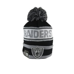 Gorro New Era Oakland Raiders-Preto/Branco