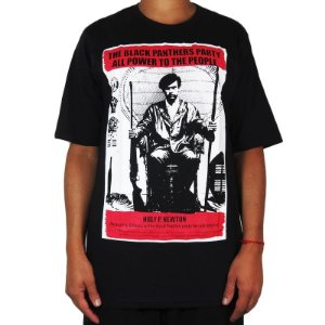 Camiseta Outlawz Black Panthers Collection Huey-Preta