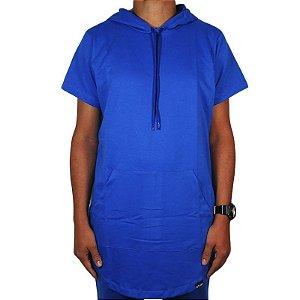 Camiseta Outlawz long line hood-Blue
