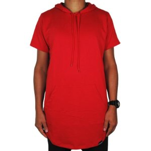 Camiseta Moletom Outlawz long line hood-Red