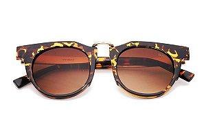 Óculos Bamm -The Fox-Óculos de Sol Pequeno Vintage e Sofisticado-Preto