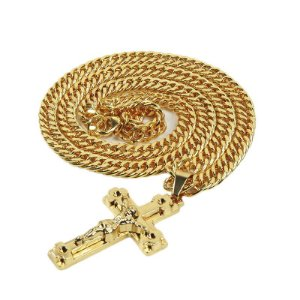 Cordão Hip-Hop Mode Crucifixo